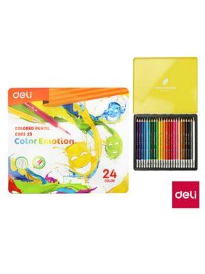 Farbičky trojhranné DELI - 24 farieb