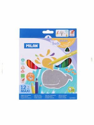 Pastelky MILAN Maxi trojhranné voskové - 12