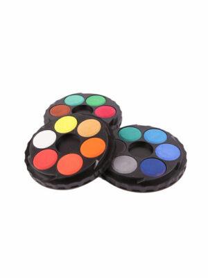 Klasické okrúhle vodové farby, 18 farieb