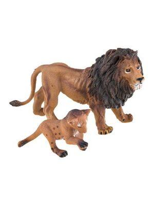 Lev s levíčatami