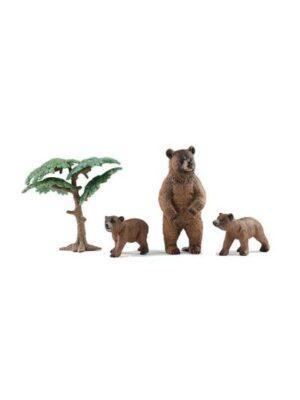 Medveď s mláďatami