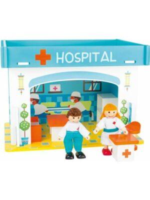 Drevená nemocnica s príslušenstvom