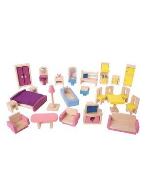 Nábytková KOMPLETNÁ sada do domčeka pre bábiky