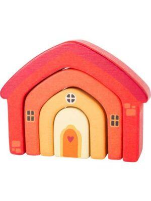 Drevený skladací domček