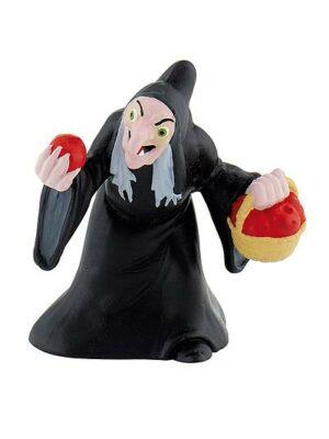 Detailne prepracovaná figúrka zlej kráľovnej zo Snehulienky, ktorá zmenila podobu a chce Snehulienku zahubiť otráveným jablkom.
