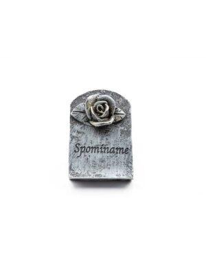 """Náhrobný kameň """"Spomíname"""" s ružou"""
