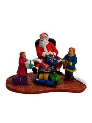 Santa Claus s deťmi a darčekmi