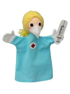 Zdravotná sestra s rúškom